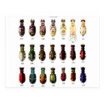 Ejemplo retro de Bettles de los insectos del kitsc Postal