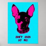 Ejemplo retro de la chihuahua poster