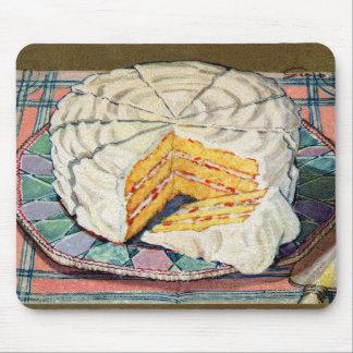 Ejemplo retro de la torta amarilla del kitsch 40s  tapetes de raton