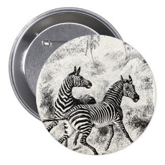 Ejemplo retro de las cebras de las cebras de los pin redondo 7 cm
