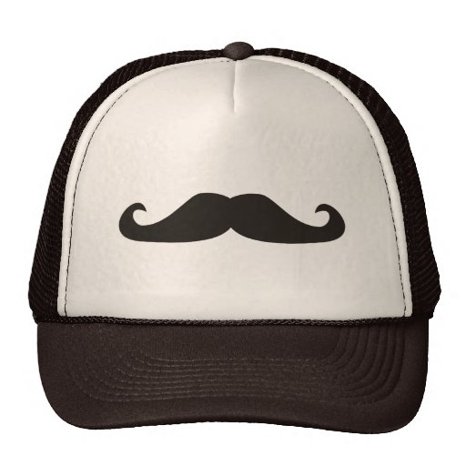 Ejemplo retro de los bigotes del gentelman gorros bordados