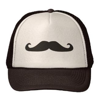 Ejemplo retro de los bigotes del gentelman gorras