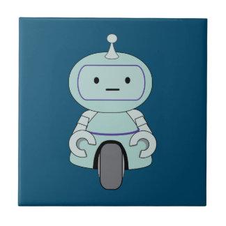 Ejemplo retro lindo del robot azulejo cuadrado pequeño