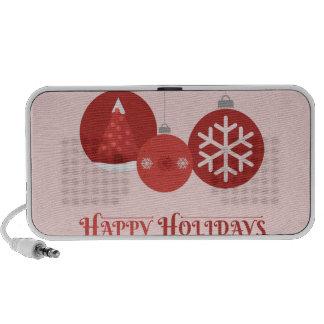 ejemplo rojo de 3 chucherías del navidad altavoz de viajar