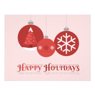 ejemplo rojo de 3 chucherías del navidad tarjeta publicitaria