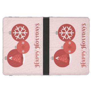 ejemplo rojo de 3 chucherías del navidad funda de kindle touch