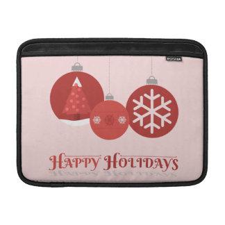 ejemplo rojo de 3 chucherías del navidad fundas macbook air