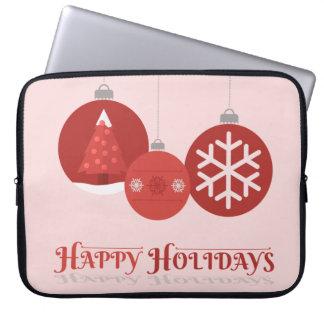 ejemplo rojo de 3 chucherías del navidad mangas computadora