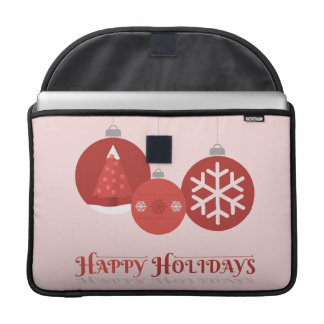 ejemplo rojo de 3 chucherías del navidad fundas para macbook pro