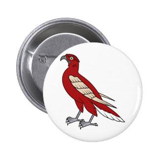 Ejemplo rojo de la animación del halcón del águila