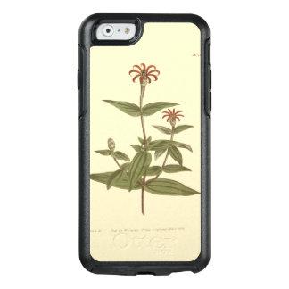 Ejemplo rojo florecido delgado del Zinnia Funda Otterbox Para iPhone 6/6s