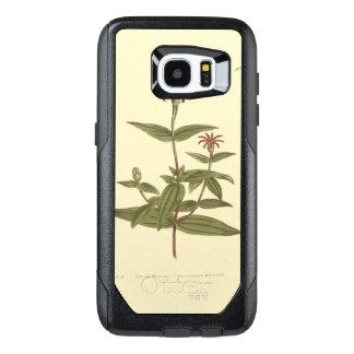 Ejemplo rojo florecido delgado del Zinnia Funda OtterBox Para Samsung Galaxy S7 Edge