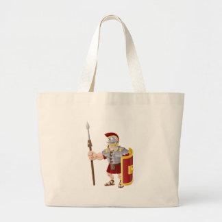Ejemplo romano fuerte del soldado bolsa de mano