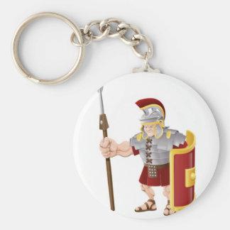 Ejemplo romano fuerte del soldado llaveros personalizados