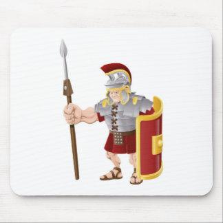 Ejemplo romano fuerte del soldado tapetes de raton