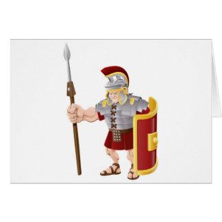 Ejemplo romano fuerte del soldado tarjetón