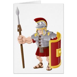 Ejemplo romano fuerte del soldado felicitación