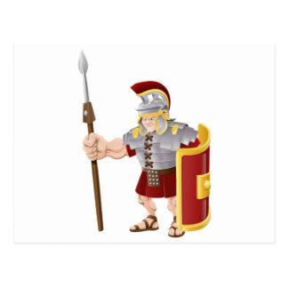 Ejemplo romano fuerte del soldado tarjeta postal