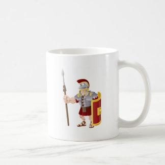Ejemplo romano fuerte del soldado taza de café