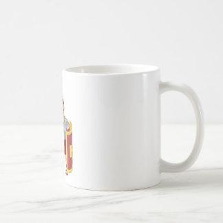 Ejemplo romano fuerte del soldado tazas de café