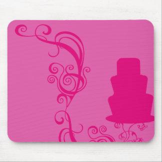 Ejemplo rosado de la torta tapetes de raton
