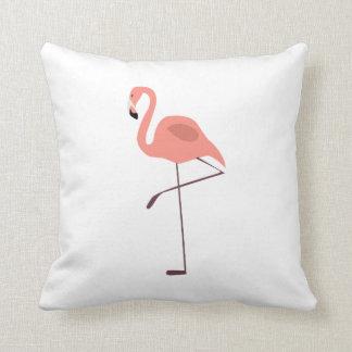 Ejemplo rosado del pájaro del flamenco cojin