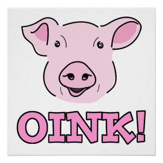 Ejemplo rosado sonriente lindo de la cara del perfect poster