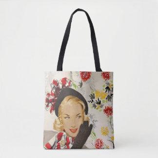 Ejemplo sofisticado del encanto de los años 40/de bolsa de tela