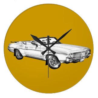 Ejemplo supremo 1971 del coche del machete de reloj redondo grande