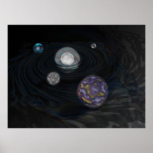 Ejemplo temprano de la Sistema Solar Póster