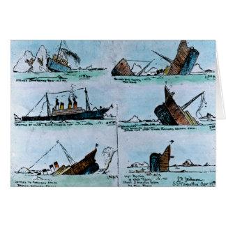 Ejemplo titánico del vintage del RMS del hundimien Tarjeta