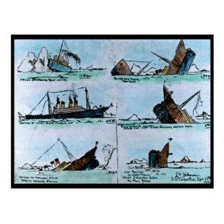 Ejemplo titánico del vintage del RMS del Postales