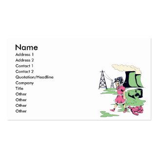 ejemplo tóxico del vector del chica plantilla de tarjeta personal