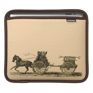 Ejemplo traído por caballo del coche de bomberos d fundas para iPads