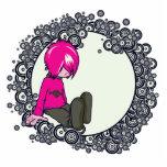 ejemplo triste del vector del niño del emo esculturas fotograficas