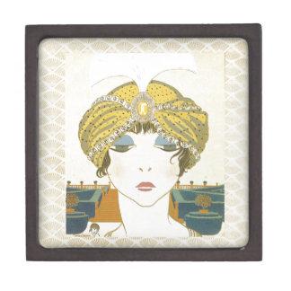 Ejemplo Turbaned de la moda de los 1900s de Poiret Caja De Regalo De Calidad