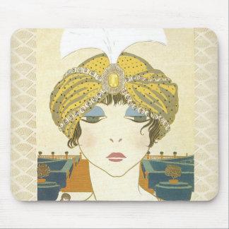 Ejemplo Turbaned de la moda de los 1900s de Poiret Tapete De Raton