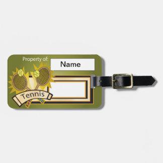 Ejemplo único del tenis etiqueta para maleta