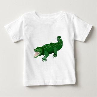 Ejemplo verde de la animación del cocodrilo playera para bebé