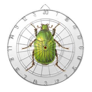 Ejemplo verde del escarabajo del vintage tablero de dardos
