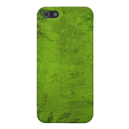 Ejemplo verde floral del Grunge iPhone 5 Carcasas