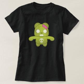 Ejemplo verde lindo de la panda del zombi playeras