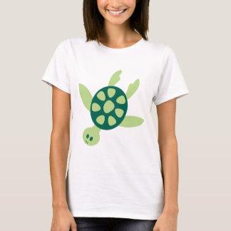 Ejemplo verde lindo de la tortuga del dibujo playera
