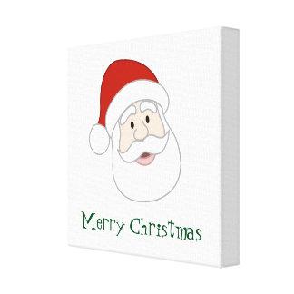 Ejemplo y texto de Papá Noel Impresión En Lienzo