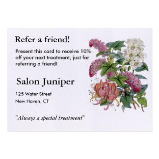 Ejemplos botánicos del vintage tarjetas de visita grandes