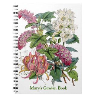 Ejemplos de Botanicals del vintage Libros De Apuntes Con Espiral