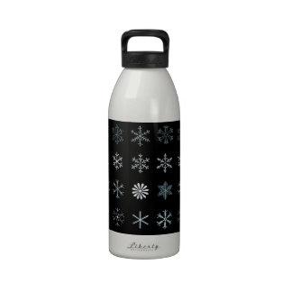 Ejemplos de copos de nieve botellas de agua reutilizables