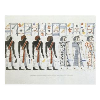 Ejemplos de hieroglyphics de las tumbas de t postal