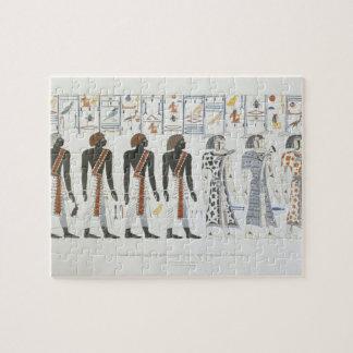 Ejemplos de hieroglyphics de las tumbas de t rompecabeza con fotos