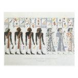 Ejemplos de hieroglyphics de las tumbas de t postales